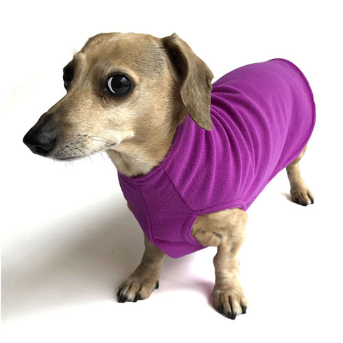Magenta Dachshund Fleece Sweater