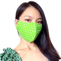 Dotty Green Face Mask