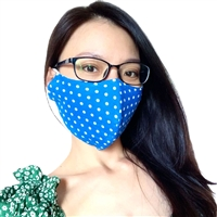 Dotty Blue Face Mask