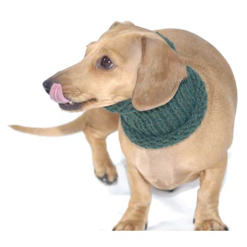 Forest Green Noodle Boodle Dachshund Neck Warmer