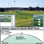 Baseball Outfield Fencing 150' Roll - Blue