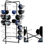 Pro Down Rolling Football Helmet Rack - 56 Helmet Capacity