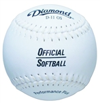 "diamond official game 11"" practice softballs 11os - dozen"