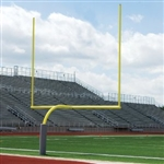 Galvanized Official High School Gooseneck Goalpost in Yellow Finish