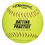"Diamond 12"" Kevlar Stitch Pitching Machine Fastpitch Softballs - 6 Dozen"