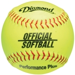 "diamond 12"" yellow official league practice softballs 12os - dozen"