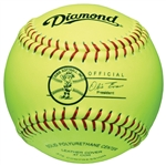 "Diamond 12"" Dixie League Official Game Fastpitch Softballs 12RY - 6 Dozen"