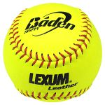 "baden 2bsfpy 12"" nfhs lexum fastpitch leather softballs dozen"