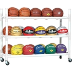 Champion Sports Heavy Duty 30 Ball Cart with Casters