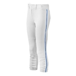 mizuno women's select belted fastpitch piped softball pants 350314
