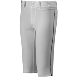 Mizuno Adult Select Piped Short Baseball Pant