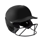 Mizuno F6 Youth Fastpitch Softball Helmet - Black