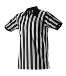 Alleson Football Officials Striped Shirt With Chest Pocket
