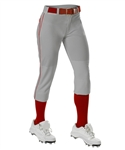 Alleson Girls Belted Knee Hight Fastpitch Pant - Braid