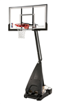 "spalding 54"" glass portable basketball hoop"