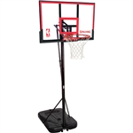 "spalding 48"" polycarbonate portable basketball hoop"