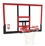 "spalding 44"" polycarbonate backboard and rim combo"