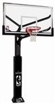 "spalding 60"" glass arena view in-ground basketball hoop"