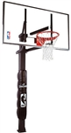 "spalding 72"" glass arena view h-series in-ground basketball hoop"