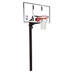 "spalding 52"" acrylic in-ground basketball hoop"