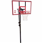 "spalding 44"" polycarbonate in-ground basketball hoop"