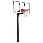"spalding 60"" glass in-ground basketball hoop"