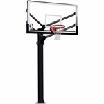 "spalding 72"" acrylic arena view fixed height in-ground basketball hoop"