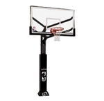 "spalding 72"" glass arena view in-ground basketball hoop"