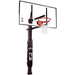 "spalding 54"" glass in-ground basketball hoop"