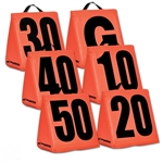 champro solid weighted football yard markers a102s