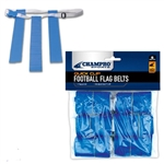 champro quick clip adjustable flag football belts - 6 pack