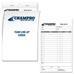 champro baseball softball team line-up cards - set of 25