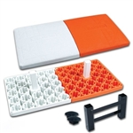 champro sports in ground double first base - orange white