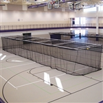 Jaypro Ceiling Suspended Retractable Batting Cage - Baseball