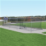 Jaypro Semi-Permanent Outdoor Batting Tunnel Frame - 70'