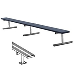 Sports 21 Foot Surface Mount Aluminum Bench without Back