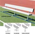 Sport Portable Aluminum Bench with Back - 21 Foot