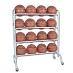 champro 16 ball basketball ball rack with casters