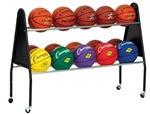 Champion Sports Wheeled 15 Ball Cart