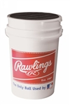 rawlings 6 pack baseball buckets with padded seat bucket6pk