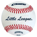 champro cbb-200ll little league approved leather baseball - dozen