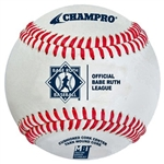 champro cbb-300br babe ruth double cushion cork leather game baseball - dozen