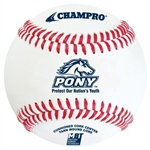champro cbb-300pl official pony league game baseball - dozen