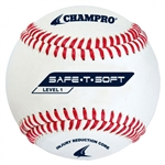 champro saf-t-soft level 1 synthetic leather baseball - dozen