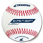 champro saf-t-soft level 5 synthetic leather cover baseball - dozen