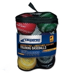 champro set of 6 team weighted training baseballs - dozen