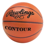 "rawlings mens contour 29.5"" leather game basketball contour-b"
