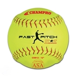"champro 12"" asa fastpitch leather softball - .47 cor - dozen"