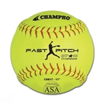 "champro 11"" asa fast pitch softball - synthetic - .44 cor - dozen"
