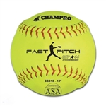 "champro 12"" asa fast pitch softball - synthetic - .44 cor - dozen"